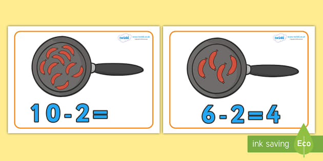 10 Fat Sausages Counting Frames - 10 fat sausages, counting frame, counting, numercay, adding, substraction, sausages, 10