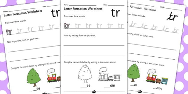 Phase 4 Initial Blends Letter Formation Worksheets - phase 4