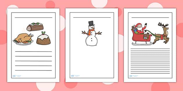 Christmas Themed Writing Frames - christmas, writing frames