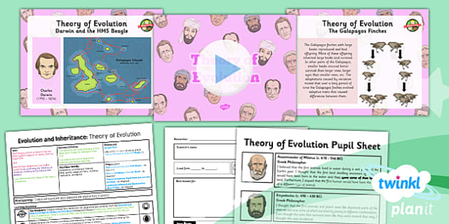 PlanIt - Science Year 6 - Evolution and Inheritance Lesson 3: Theory of Evolution Lesson Pack - planit