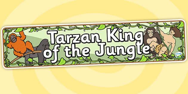 Tarzan King of the Jungle Display Banner - tarzan, tarzan themed, tarzan display banner, themed display banner, tarzan themed display banner