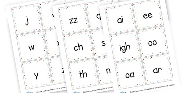 Phase 3 Flash Cards Large Writing - Phase 3 Visual Aids Primary Resources, Phase One, Letters, sounds