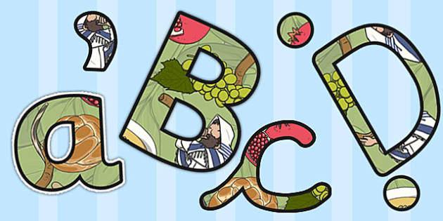 Rosh Hashanah Themed Display Lettering - rosh hashanah, display
