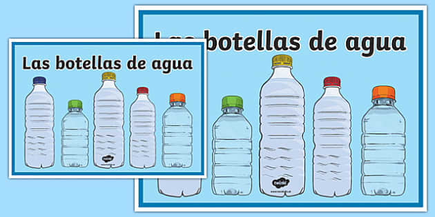 Cartel Las botellas de agua