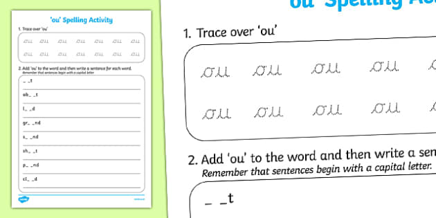ou Spelling Activity - ou, spelling activity, spell, activity