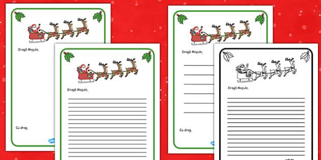 Scrisoare către Moș Crăciun - Cadru scrisoare