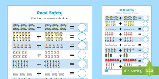 Road Safety Up to 20 Addition Sheet