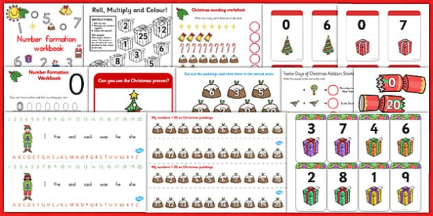 Christmas Numeracy Resource Pack - christmas, numeracy, pack