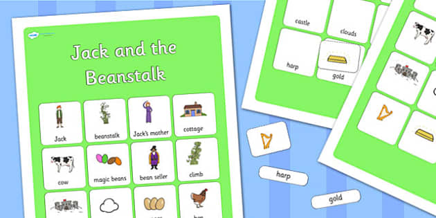 Jack and the Beanstalk Vocabulary Mat Poster - jack and the beanstalk, vocabulary mat, word mat, key words, topic words, word poster, vocabulary poster