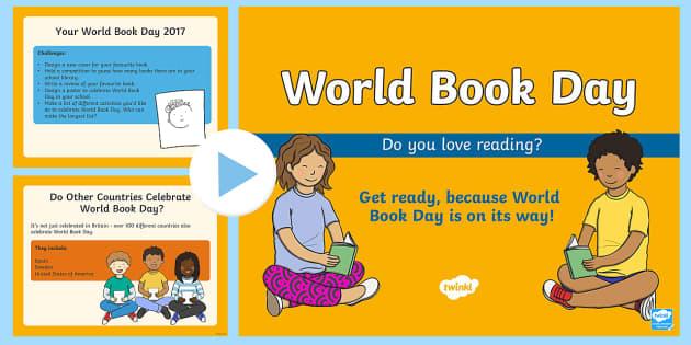 World Book Day 2017 PowerPoint - Diwrnod y Llyfr, World Book Day, Wales, Display, Book, Book day. EYFS,KS1, dydd , ddydd, ddiwrnod