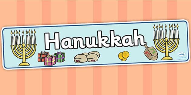 Hanukkah Display Banner - Religion, faith, banner, display, sign, synagogue, hanukkah, jew, jewish, God, RE, rabbai