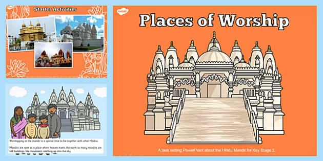 Places of Worship Hindu Mandirs KS2 PowerPoint - powerpoints