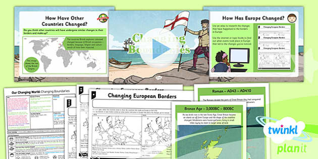 PlanIt - Geography Year 6 - Our Changing World Lesson 4: Changing Boundaries Lesson Pack - geography, border, country, UK, physical, human, changes