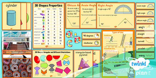 PlanIt Y3 Properties of Shape Display Pack - PlanIt, Properties of Shapes