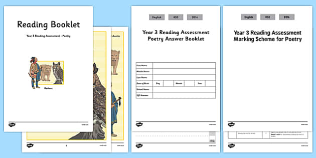 Year 3 Reading Assessment Poetry Term 2 - test, sats, summative, diagnostic, comprehension