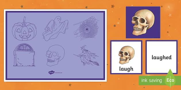 Halloween Themed Past Tense Activity Lower Ability - halloween, past tense, activity, lower ability