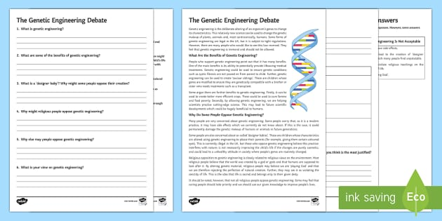 genetic engineering debate essay
