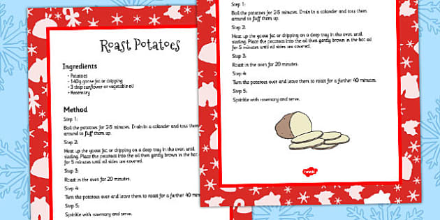 How to Cook Roast Potatoes Recipe Card - guide, recipes, food