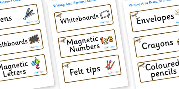 Red Kite Themed Editable Writing Area Resource Labels - Themed writing resource labels, literacy area labels, writing area resources, Label template, Resource Label, Name Labels, Editable Labels, Drawer Labels, KS1 Labels, Foundation Labels, Foundati