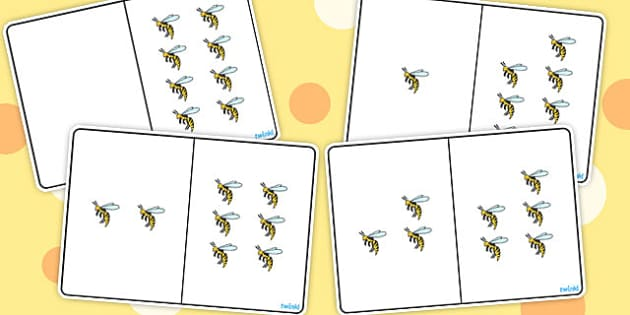 Wasp Counting Number Bonds to 8 - number, bonds, counting, 8