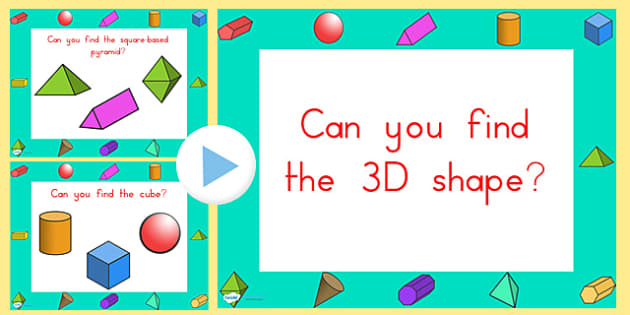 Can You Find the 3D Shape PowerPoint Australian - australia