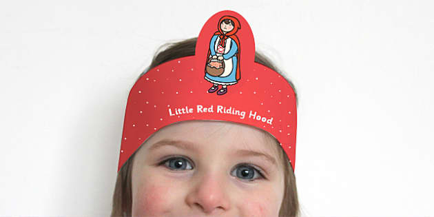 Little Red Riding Hood Role Play Headbands - story book, roleplay