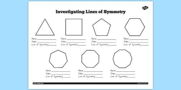 Australia - Investigating Lines of Symmetry Worksheet - australia, symmetry