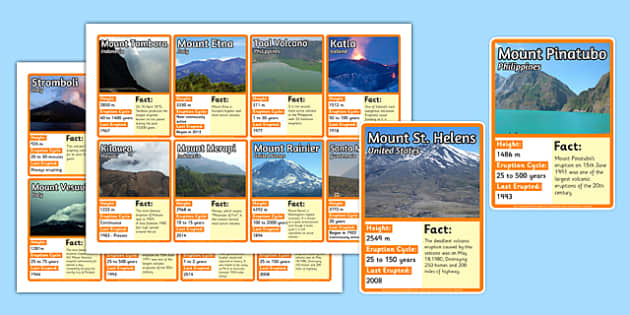 Volcano Top Card Game - Volcano, Cards, Game, Card, Geography