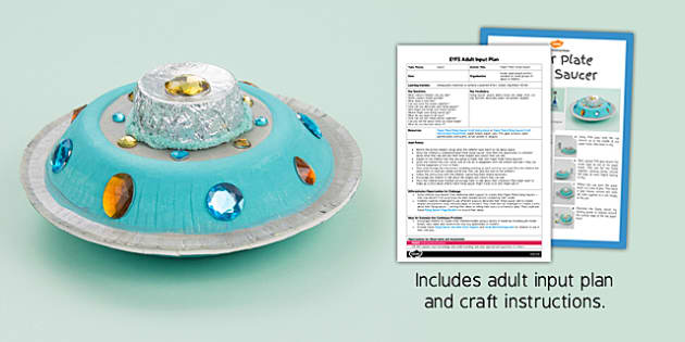 Paper Plate Flying Saucer Craft EYFS Adult Input Plan And Resource Pack