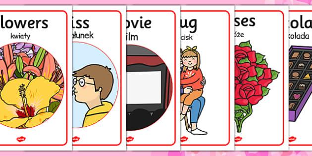 Valentine's Day Display Posters Polish Translation - polish, day