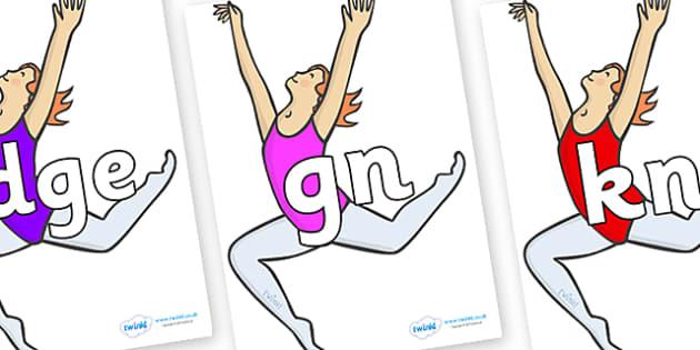 Silent Letters on Ballet Dancers - Silent Letters, silent letter, letter blend, consonant, consonants, digraph, trigraph, A-Z letters, literacy, alphabet, letters, alternative sounds