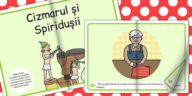 Cizmarul si Spiridusiil, poveste ilustrata, rezumat cu imagini, Romanian