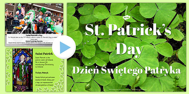 St. Patrick's Day PowerPoint Polish Translation - polish, st patricks day, powerpoint, day