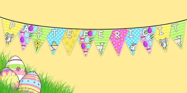Paște fericit - Stegulețe decorative