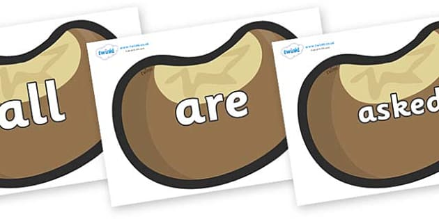 Tricky Words on Conkers - Tricky words, DfES Letters and Sounds, Letters and sounds, display, words