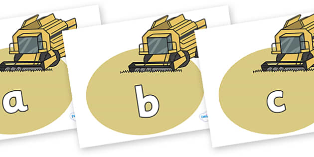 Phase 2 Phonemes on Combine Harvesters - Phonemes, phoneme, Phase 2, Phase two, Foundation, Literacy, Letters and Sounds, DfES, display