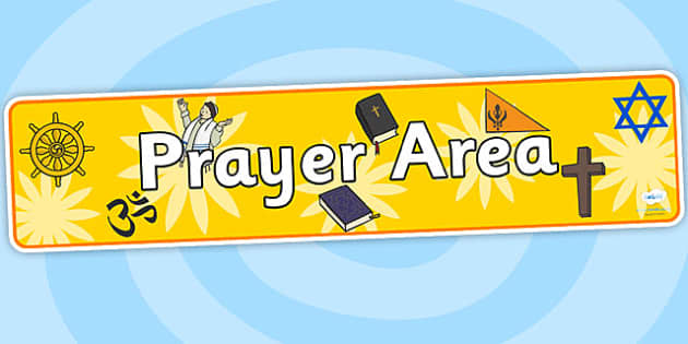 Prayer Area Display Banner - prayer area, prayer area banner, prayer area display, prayer display, prayer room, prayer area display header, banner, title
