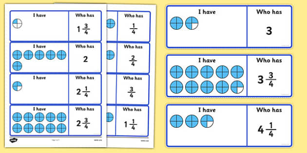 Fractions Loop Cards Quarters - fractions, loop cards, quarters, loop, cards