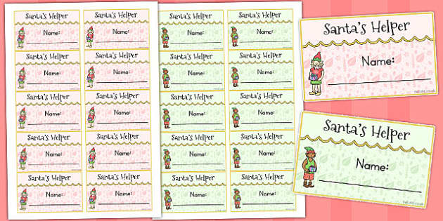Santas Helper Badges - australia, santa, helper, christmas, badge