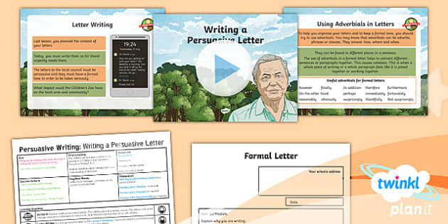 PlanIt Y6 Living Things and Their Habitats: David Attenborough Lesson Pack Persuasive Writing (4) - Living Things and Their Habitats: David Attenborough, zoo, persuasive, persuasion, letter, formal, y