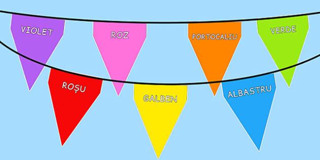 Stegulete decorative, Culori - décor, grupa, culorile principale