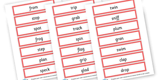 CCVC Word Cards - Words & Vocab Primary Resources, literacy, keywords, cvc, phonemes