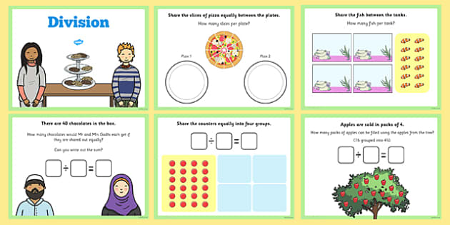 Maths Introducing Division Activity for IWB maths division – Division Worksheets Ks1