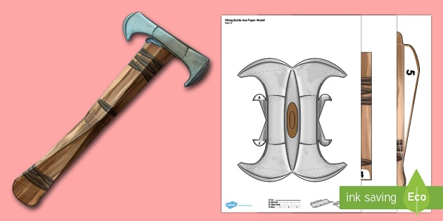 Viking Battle Axe Paper Model - battle axe, paper, model