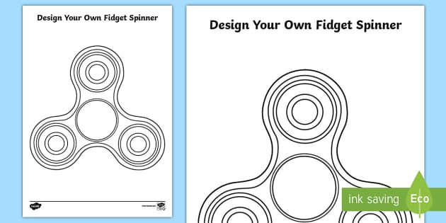 Design Your Own Fidget Spinner Coloring Page