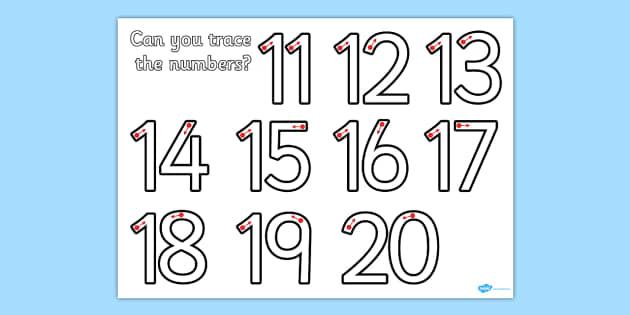 Number Formation 11-20 Worksheet - number, formation, 11-20