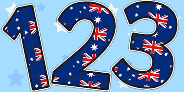 0-9 Display Numbers (Australia) - Display numbers, 0-9, numbers, display numerals, Australia, display lettering, display numbers, display, cut out lettering, lettering for display, display numbers