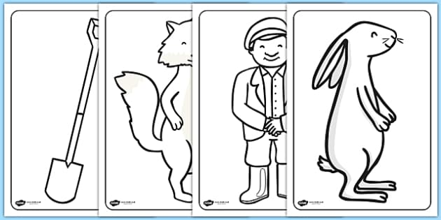 Colouring Sheets to Support Teaching on Percy The Park Keeper - percy the park keeper