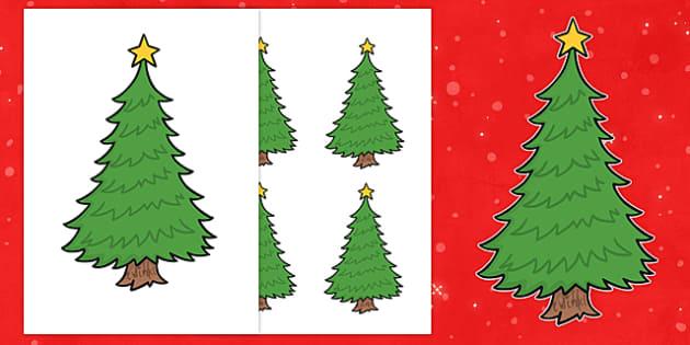 Editable Christmas Trees - Christmas, xmas, tree, editable, tree, advent, nativity, santa, father christmas, Jesus, tree, stocking, present, activity, cracker, angel, snowman, advent , bauble