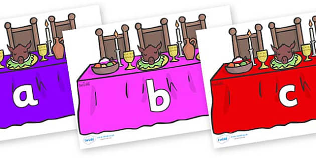 Phase 2 Phonemes on Dining Tables (Multicolour) - Phonemes, phoneme, Phase 2, Phase two, Foundation, Literacy, Letters and Sounds, DfES, display
